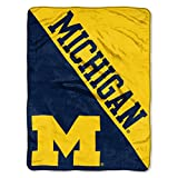 The Northwest Company Michigan Wolverines 'Halftone' Micro Raschel Throw Blanket, 46' x 60' , Blue