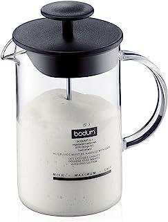 Bodum 1446-01 melkopschuimer met glazen handvat Latteo, zwart