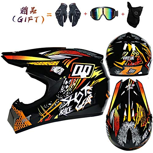tong99 Lichte helm motorfiets racefietshelm kinderfiets downhill mountainbike cross helm-S