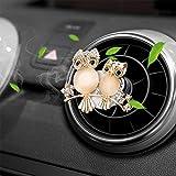Bling Car Charm Air Vent Clips, Bling Car Accessories for Women, Universal Rhinestone Car Air Freshener, Stylish Car Air Vent Clip Charms, Car Fresheners for Women with Reusable Pads (Rhinestone Owl)