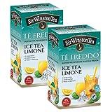 Sir Wiston Tea Té helado con sabor a limón Cero azúcar y calorías Fresco y sediento - 2 x 18 Bolsitas de té (90 gramos)
