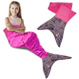 ArtCreativity Mermaid Tail Wearable Blanket, 1pc, Cozy Mermaid Blanket with Color Changing Sequins on One Side, Soft Throw Blanket for Kids, Unique Mermaid Gift for Girls and Boys