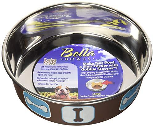 Loving Pets Bella Bol pour Chien Cosmopolitan Blue Grand 1,5 L
