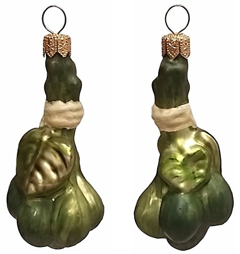Pinnacle Peak Trading Company Green Capers Polish Blown Glass Christmas Ornament Set of 2 Holiday Decorations