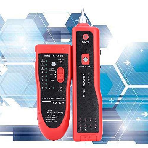 Deryang Rastreador de Cables, rastreador de Cables telefónicos, probador de Cables para la Industria doméstica UTP STP RJ45 RJ11