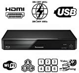 Panasonic 93 Wi-Fi Multi Zone All Region DVD Blu ray Player. 100-240V World-Wide Voltage - 6 Feet Hdmi Cable Included.