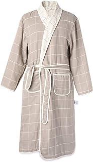 NEWCOSPLAY Mens Plush Soft Long Sleeve Lapel Nightgown Comfortable Warm Bathrobe