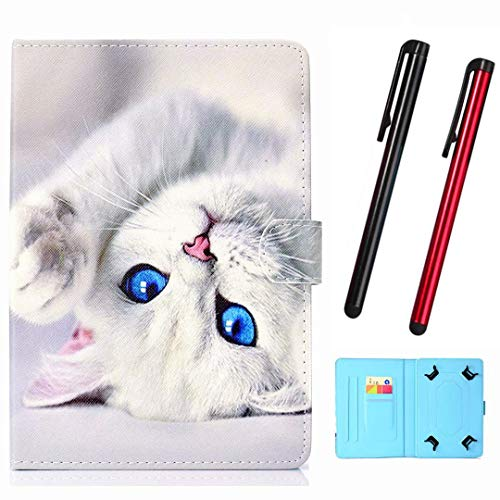 "Hious Hülle für 9-10.5"" Tablet PU Leder Tasche mit Kartenfach & Stift für iPad 10,2 Zoll 2019, Samsung Tab S4 10.5/Tab S3 9.7, Lenovo Tab4 10/10 Plus, Huawei Mediapad T3 T5 10/M3 M5 Lite 10"