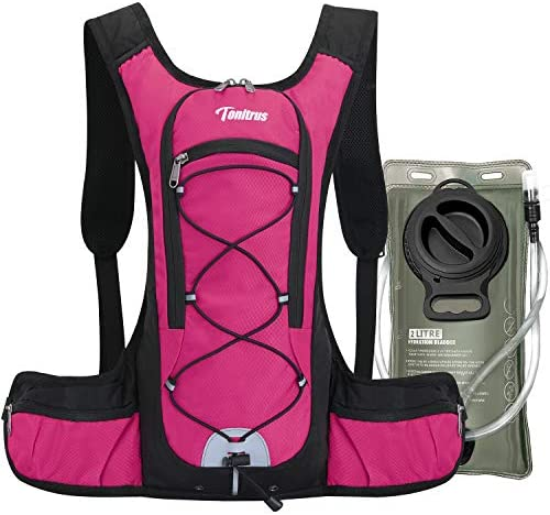 Tonitrus Hydration Backpack with 70oz Water Bladder 2 Waist Pouch Water Pack for Man Women Kid product image