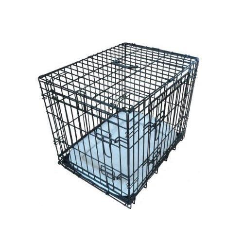 Ellie-Bo Deluxe Extra Fuerte 2 Puerta Plegable Perro Perrito de la Jaula con Cama