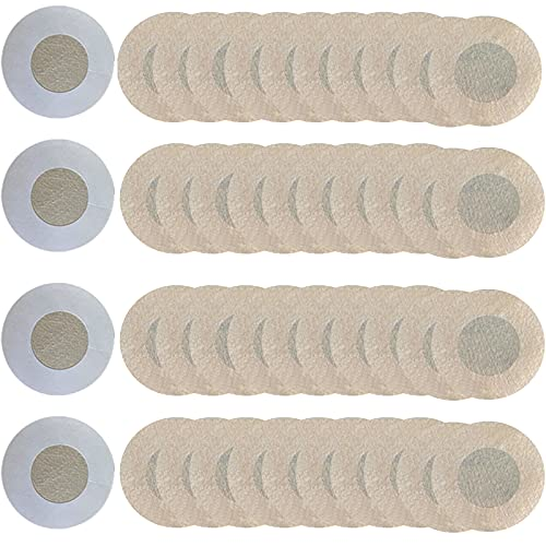 YMIFEEY 40Pcs Pegatinas Pezón Desechables Pezoneras Cubierta de Pezón Invisible Transpirable Cubre Bien para Hombres y Mujeres Tapas para los Pezones Adhesiva Nipplecovers, 20 Pares (Tela no tejida)