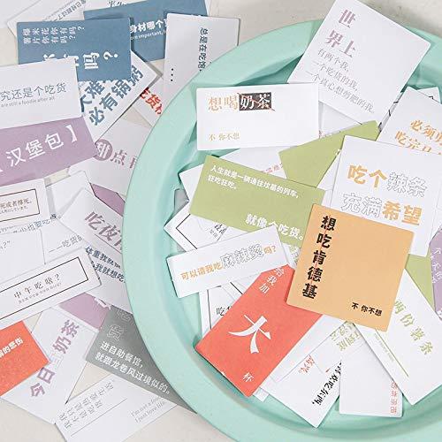 BLOUR Fremde Umwelt Aufkleber Paket Feinschmecker Zitate Serie Salz von frischem Charakter Hand Konto DIY Material dekorative Stick