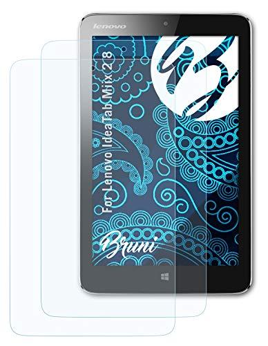 Bruni Schutzfolie kompatibel mit Lenovo IdeaTab Miix 2 8 Folie, glasklare Bildschirmschutzfolie (2X)