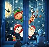 DURINM Navidad Pegatina Calcomanías para Ventanas Decoración De Ventanas Espiar Santa Claus Calcomanías...