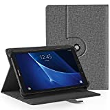 EasyAcc Funda Universal Tablet 10 Pulgadas 360 Grados Rotación para BEISTA LNMBBS MEBERRY TECLAST KXD Broken- jom Huashetrade ZONMAI CHUWI Hi10 X Lenovo TAB10 Tab 2, Gris