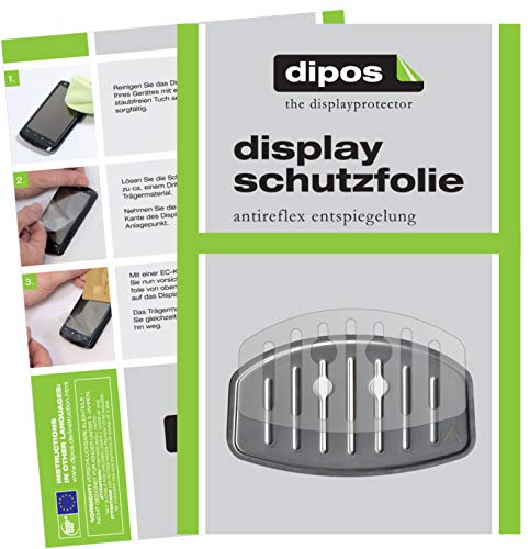 dipos 2X Matte Schutzfolie kompatibel mit Krups EA 810B Tropfblech I Kaffeevollautomaten I Abtropfblech I Abtropfgitter kompatibel mit Kaffee-Maschine