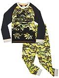 Jurassic World Pijama Niño, Pijama Dinosaurio Estampado Camuflaje, Pijamas de Dos Piezas Camiseta Manga Larga y Pantalones, Regalos Originales para Niños 3-12 Años (4-5 años)