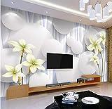 Custom 3D Photo Wallpaper Morn Flower Wallpapermural granpara el dormitorio Sa estar TV Fondo Papel pared Rollos-350X250CM