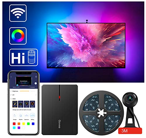 "LED TV Backlights, Govee WiFi TV Backlights Kit with Camera, TV Led Strip Lights Compatible with Alexa, APP Control Music Led Strip Lights, TV Ambient Bias Lighting for 55""-80"" TV Calibrate on APP"