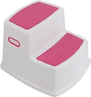 LIXUDECO PAK55 Marchepied à 2 marches pour enfants pour apprendre à la propreté à la salle de bain ou à la cuisine Couleur...