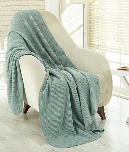 Ottomanson Soft Fleece Blanket, 50' x 65', Seafoam
