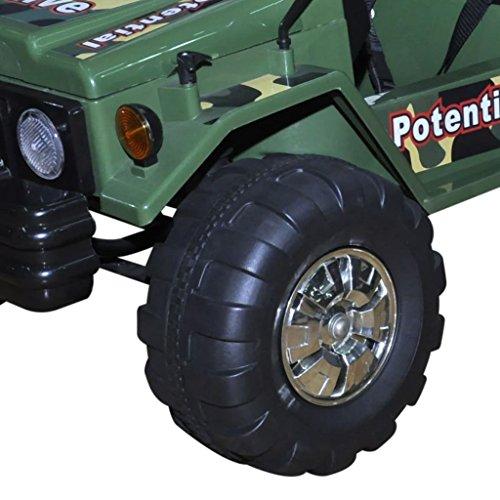 RC Auto kaufen Kinderauto Bild 2: vidaXL Kinderauto Elektroauto Kinderfahrzeug Kinder Fahrzeug 2-Sitzer Armeegrün*