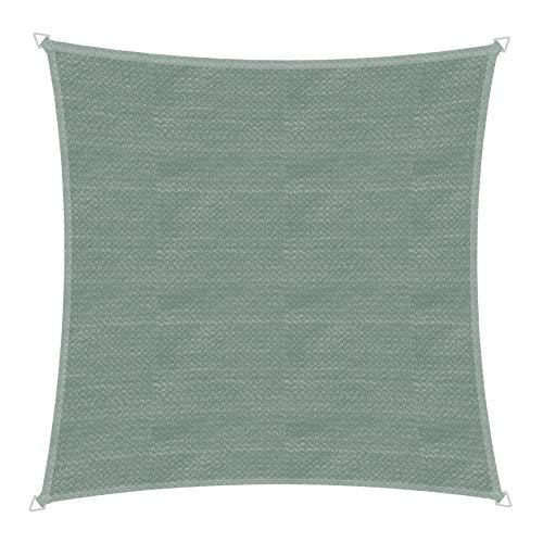 Windhager 10767 Capri Voile d'ombrage carré 4 x 4 m (cuise) Protection Solaire pour Jardin et terrasse, résistant aux UV et aux intempéries Olive