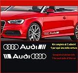 Kit Adesivi Stickers A1 A3 A4 A5 A6 Q2 ECC. -2 Adesivi Tuning Auto- Scegli SUBITO Colore- Car Kit n.2 cod.0502 (Argento cod. 090)