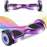 CHIC Elegante Bilancia da 6,5 Pollici, Scooter Elettrico autobilanciante, Ruote da Skateboard con Luce a LED, Motore 700 W Bluetooth per Bambini e Adulti - Rosso
