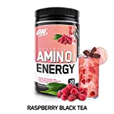 Optimum Nutrition Amino Energy with Green Tea and Coffee Extract, Raspberry, 270 Gram, 9.5 Ounce (1...