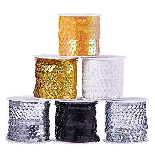 PH PandaHall 30 Color Spangle Flat Sequins String Ribbon Roll