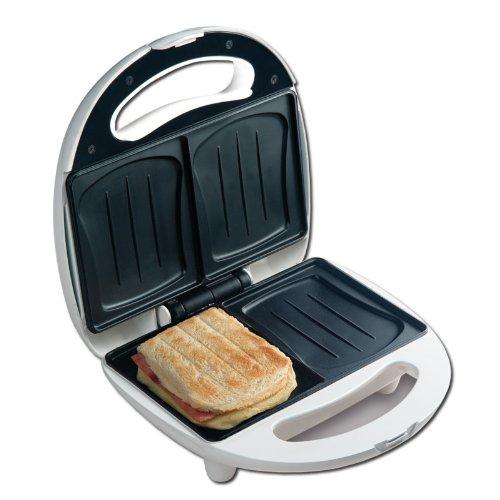 Sandwich-broodrooster voor 2 schelpvormige sandwichtoast - 2 schijven sandwichmaker met schelp-bakvormen - geschikt voor camping - NIEUW & OVP