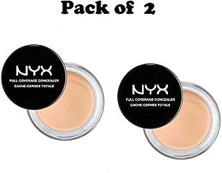 Pack of 2 NYX Full Coverage Concealer, Sand Beige CJ04.5