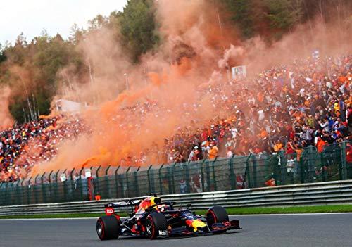 Max-Verstappen 33 Red Bull-Orange F1 Formel 1 Belgie Grand Prix 2019 Poster 11844 (A3-A4-A5), A3