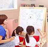 Pizarra magnética de doble cara ajustable con marco de caballete para niños, juego de dibujo de tiza sin polvo, pizarra blanca con tiza y juguete educativo