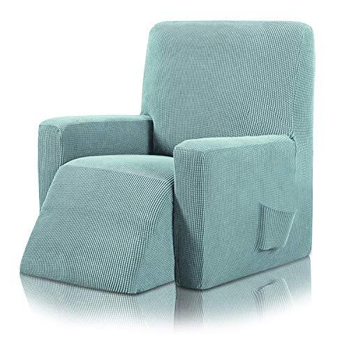 PETCUTE Sesselschoner Stretchhusse für Relaxsessel Sesselhusse Sessel gerettet Ruhesessel bezige wasserdichter Stretch Sessel Stuhlbezug mit Seitentaschen