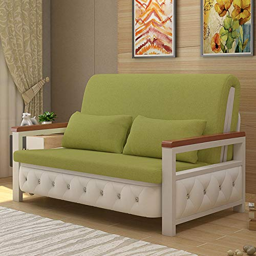 CC.Stars Best Price Mattress,,Bed Futon Sofa for Adult and Kids Folding Mattress,Living Room Sofa Home Fabric Sofa Bed Sofa Chair Simple Sofa Chair Folding Bed Recliner-Green