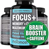 Brain Focus Supplement for Memory Support & Brain Booster - Nootropics Energy Pills & Brain Supplement As Caffeine Pills with Brain Vitamins of Rhodiola Rosea, Bacopa Monnieri, Ginkgo Biloba, DMAE