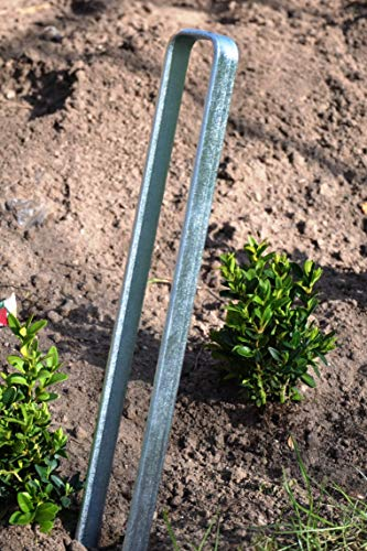 KUHEIGA 1 x Bodenanker, verzinkt, Länge 40cm für Rosenbogen Blumenhilfe Obelisk und mehr!