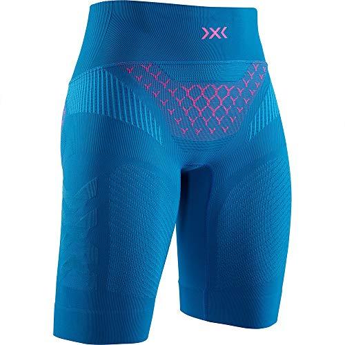 X-Bionic Twyce 4.0 Run Women Shorts Femme, Teal Blue/Neon Flamingo, FR (Taille Fabricant : XS)