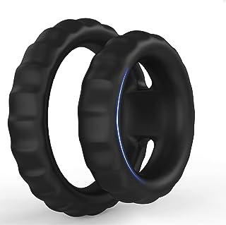 Liquid Silicone Dual Cock Ring, Ultra Soft Premium...