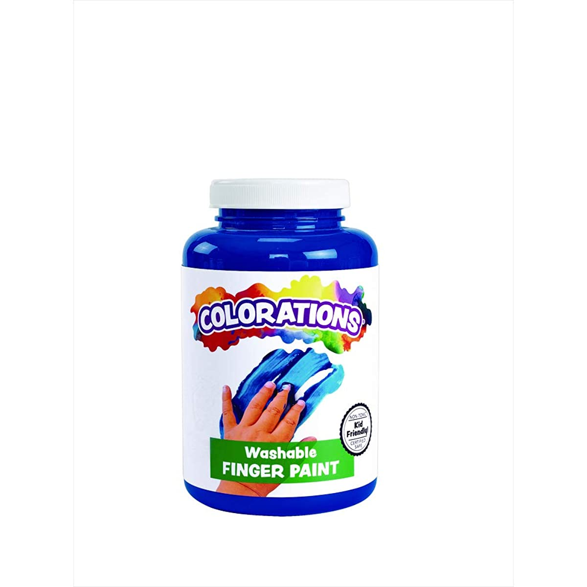 Colorations CWFBL Washable Finger Paint, Blue - 16 oz.