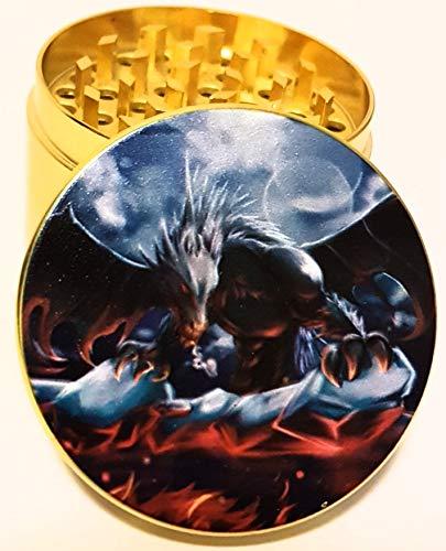 Kruidenmolen Zink Legering met Sifter en Magnetische Top Crusher voor Droge Kruiden, Specerijen, Planten Nieuwe Molen - 4 Stukken (50mm) Goud