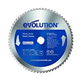 Evolution Power Tools–acero evoblade255acero dulce carburo, hoja, 255mm–...