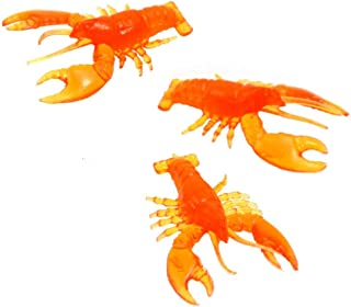 Small Rubber Red Crawfish/lobster (24) 2 dozen Crayfish for Boil Seafood Crab