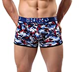 shino Herren sexy Boxershorts mit Penis Pouch camo Farbe Camouflage Rot neu (L)