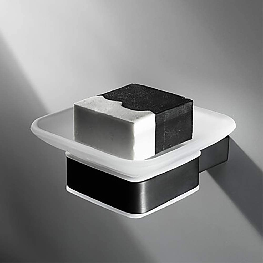 Bathroom San Jose Mall Shelf Black Square Soap and Dish Stand M Manufacturer direct delivery