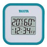 タニタ(Tanita) 温湿度計 デジタル ブルー TT-558 BL 壁掛け 時計付き 卓上 マグネット
