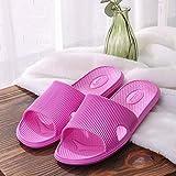 Zapatillas Casa Chanclas Sandalias Zapatos Mujer Sandalias Planas Hombres Mujeres Zapatillas De Interior para El Hogar Chanclas Zapatillas De Baño Antideslizantes Sólidas Zapatos Femeninos-Rhodo_
