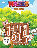 Mazes for kids - Space: Maze Activity Book Ages 4-6 Amazing Rockets, Astronauts Workbook for Games, Puzzles, and Problem-Solving